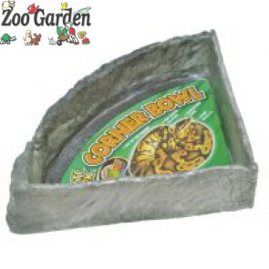 zoo med repty rock corner water dish x-large