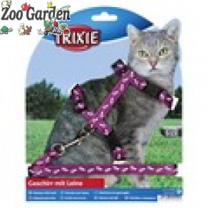 trixie gatti parure nylon decor cat 27-46 cm