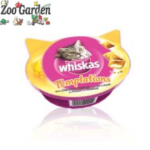 whiskas snack gatti temptations pollo 60 gr