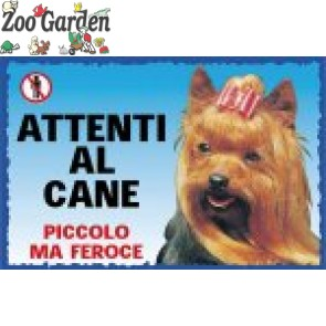 lac cartello cani attenti al cane yorkshire