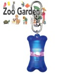 trixie safer life flasher osso per cani 4 cm