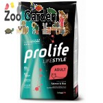 Prolife cat lifestyle adult salmone e riso 1,5kg