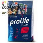 Prolife dog smart adult medium e large manzo e riso 12kg
