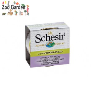 schesir cat in brodo tonno e pollo 70 gr