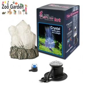 hydor kit acquari cristallo con led blu e aeratore