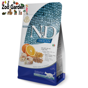 Farmina cat n&d adult merluzzo, farro, avena, arancia 1,5kg